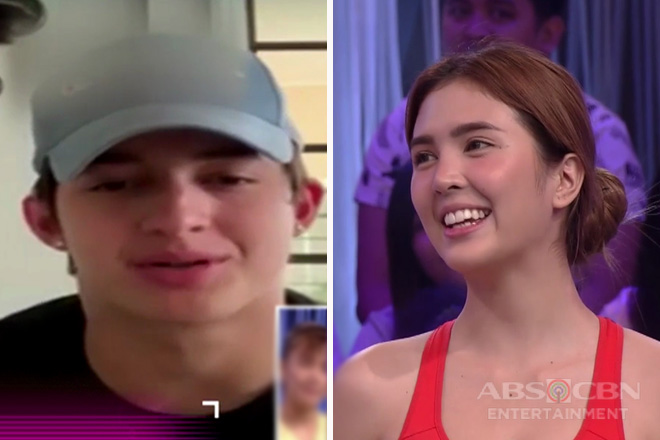 Minute To Win It: Sofia Andres receives a surprise Valentine message from boyfriend Daniel
